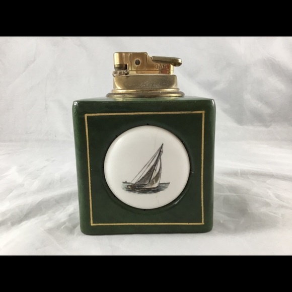 Vintage Green Leather Wrapped Collectible